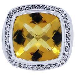 David Yurman Citrine Albion Diamond Ring