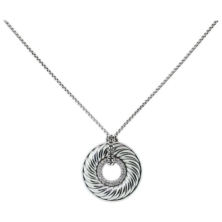 David yurman 75 carat diamond disc pendant necklace for sale at 1stdibs david yurman 75 carat diamond disc pendant necklace for sale aloadofball Choice Image