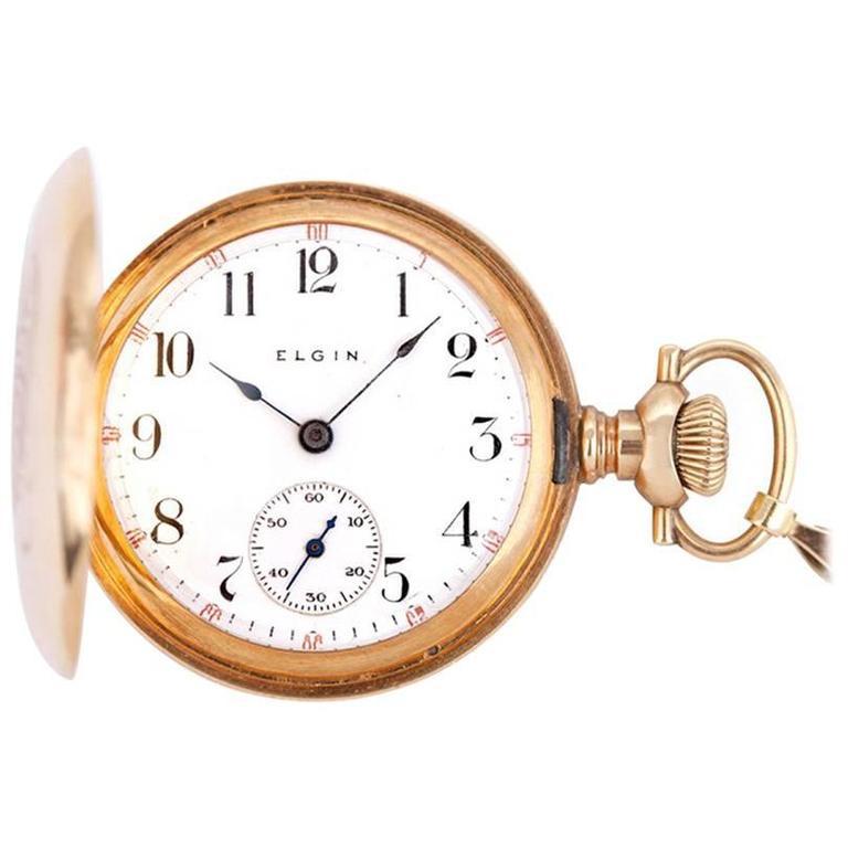 Elgin Ladies Yellow Gold Diamond Pocket or Pendant Manual Winding Watch