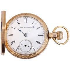 Elgin National Watch Co. Yellow Gold Massive Heavy Manual winding Pocket Watch