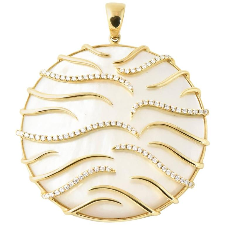 0b114bb7f0ada Frederic Sage Luna Large Gold Mother-of-Pearl Pendant Necklace
