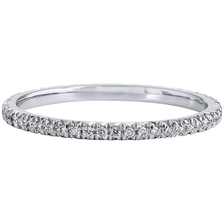 0.20 Carat Diamond Platinum Eternity Band Ring