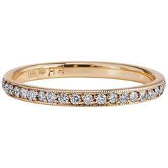 0.31 Carat Diamond 18 Karat Yellow Gold Eternity Band Ring