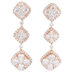 HARBOR D. Rose Gold Diamond Dangle Earrings