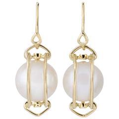 Doppio Smooth Fresh Water Pearl Earrings
