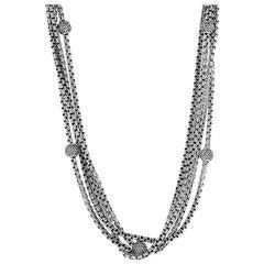 David Yurman Two Tone Multi Strand Diamond Necklace