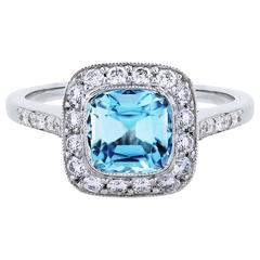 Tiffany & Co. Legacy  Aquamarine Diamond Ring