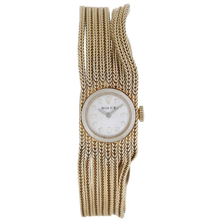 Rolex Ladies yellow gold Multi-Chain Manual winding Bracelet Wristwatch