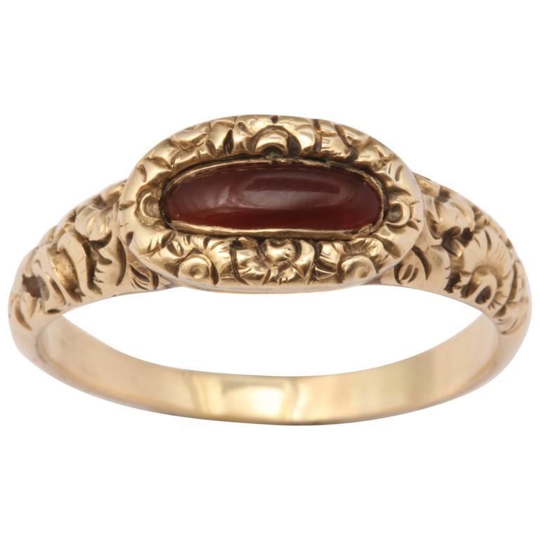 Early Victorian Carnelian Ring