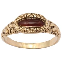 Early Victorian Carnelian Ring