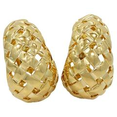 Tiffany & Co. Woven Gold Basket Earrings