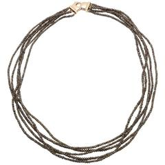 Jesse Five Strands Brown Diamond Necklace