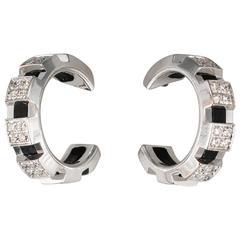 Chaumet Diamond White Gold Hoop Earrings