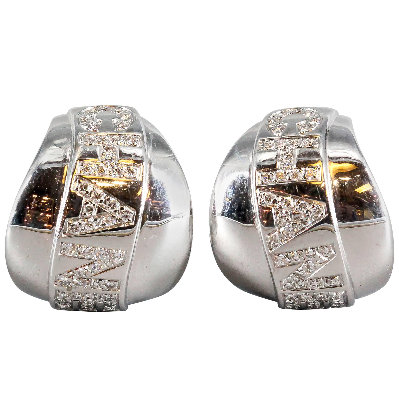 Chanel Bolduc Diamond and White Gold Earrings