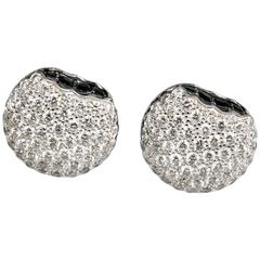 BOUCHERON Macaron  Diamond Gold Stud Earrings