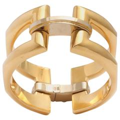 Modernist Gold Flexible Cuff Bracelet