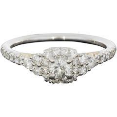 Diamond Cushion Halo Gold Engagement Ring