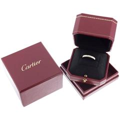 Cartier 18 Karat Pink Gold 3mm Signature Engraved Wedding Band Ring With Box