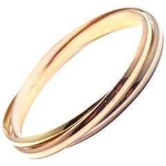 Cartier Trinity Rolling Tri-Colored Gold Bangle Bracelet