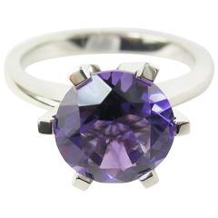 2.26 Carat Amethyst Platinum Ring