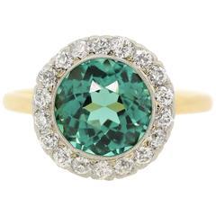 Belle Epoque  Tiffany & Co. Tourmaline Diamond Cluster Ring