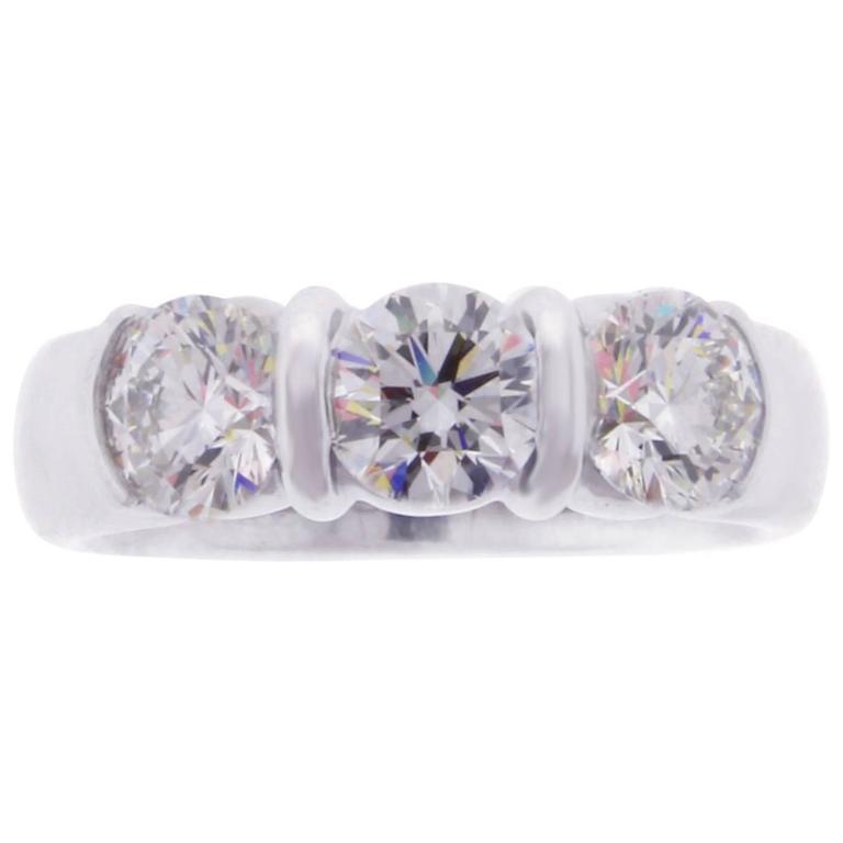 Tiffany & Co. Three Stone Diamond Ring