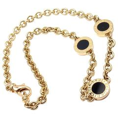 Bulgari Black Onyx Link Yellow Gold Necklace