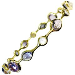 Ippolita Gold Rock Candy Gelato Bangle Bracelet