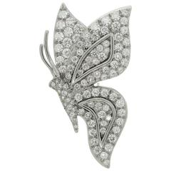 Tiffany & Co. Diamond Platinum Butterfly Brooch