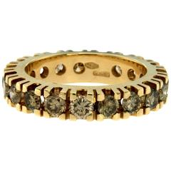 Brown Diamond Gold Eternity Ring