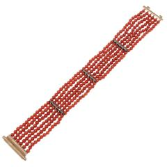 Luise Coral Gold and Silver Bracelet