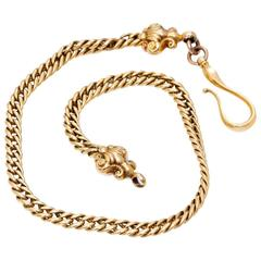 Solid Yellow Gold Pocket Watch Vest Chain 46 grams
