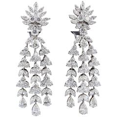 Fabulous Diamond Gold Drop Earrings