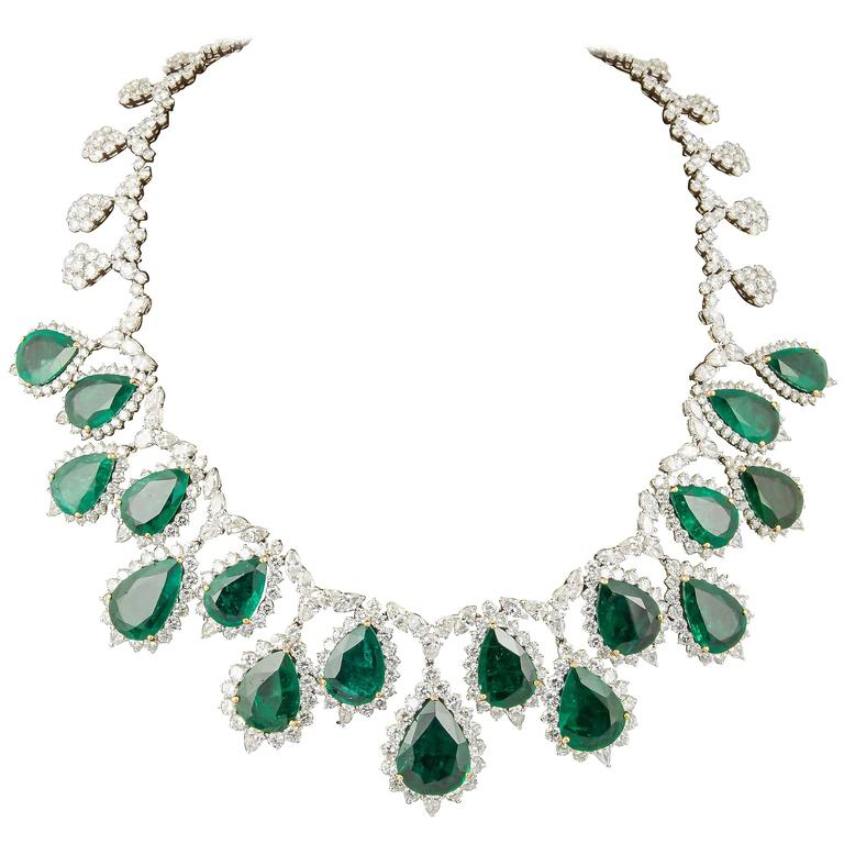 Incredible Emerald and Diamond Necklace