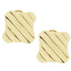 Seidengang Gold  Ribbed Earrings