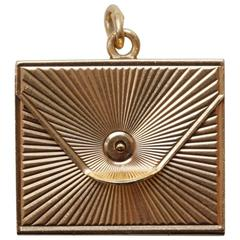 Gold Six-Way Envelop Locket