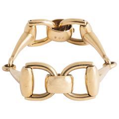 Carlo Weingrill Italy Horsebit Gold Bracelet