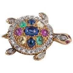 Gen set turtle brooch pendant