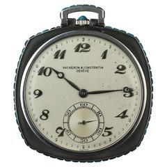 Vacheron & Constantin Rock Crystal Turquoise Pocket Watch