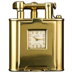 Dunhill Rare Gold Swing Arm Pocket Watch Lighter 1930s