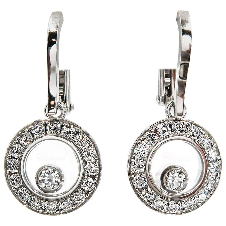 White Gold Hy Diamonds Drop Earrings By Chopard For