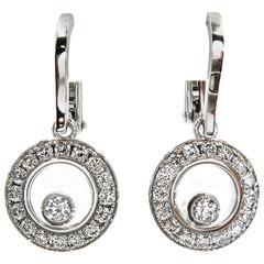 White Gold Happy Diamonds Drop Earrings by Chopard