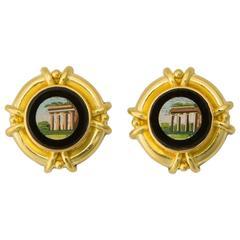 Rare Elizabeth Locke Micro Mosaic Earrings