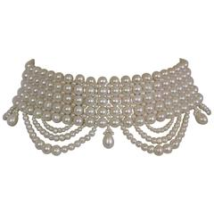 Marina J. Pearl Draped Choker Necklace