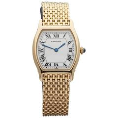 Cartier Paris Ladies Yellow Gold Tortue Mechanical Wristwatch