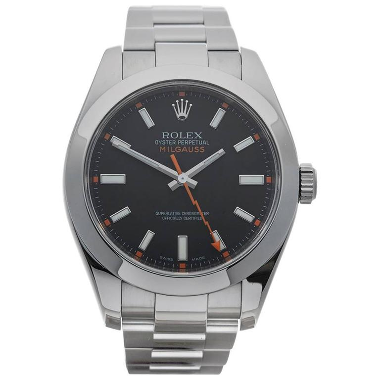 Rolex Stainless Steel Milgauss Automatic Wristwatch