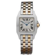 Cartier Ladies Yellow Gold Stainless Steel Santos Demoiselle Quartz Wristwatch
