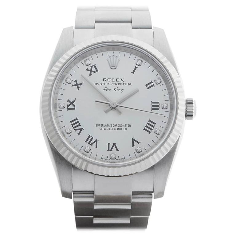 Rolex Air King White Gold Stainless Steel Automatic Wristwatch 114234 2007 1