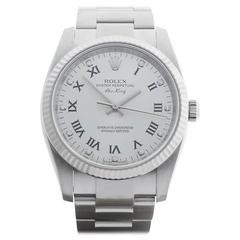 Rolex Air King White Gold Stainless Steel Automatic Wristwatch 114234 2007