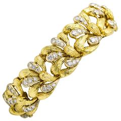 1.25 Carat Diamond 18 Karat Yellow Gold Bracelet